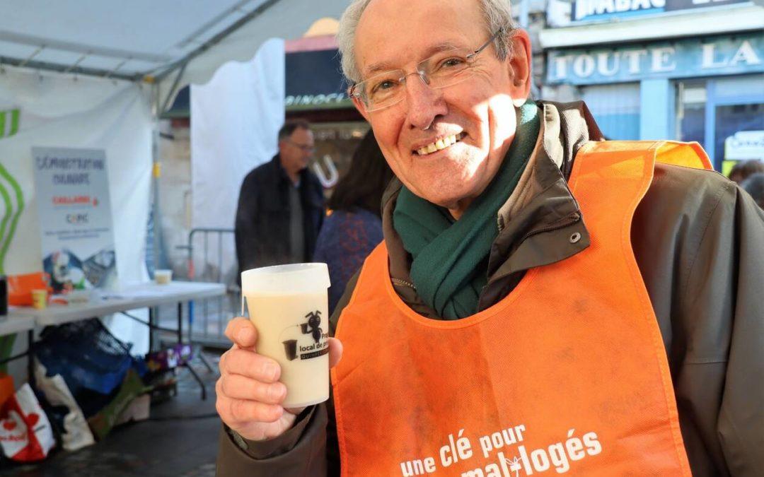 Max Pénard, l'un des bénévoles de l'association Habitat et Humanisme à Quimper, le samedi 8 février 2020.